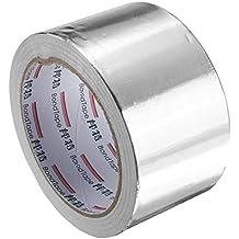 EsportsMJJ 60 mm X 25 M Plata Aluminio Cinta De Papel De Reflexión De Calor Auto-Adhesivo Cinta De Sellado