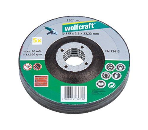 Wolfcraft 1621300 1 Sparpaket Trennscheiben Stein ø 115 x 2.5 x 22.2 mm