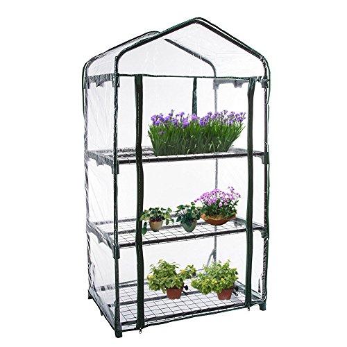 Cubierta de invernadero para plantas de PVC, accesorio de repuesto (el producto solo incluye la cubierta; estante y macetas no incluidos)