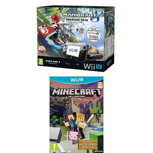 Nintendo-Wii-U-Consola-Premium-Pack-Mario-Kart-8-Preinstalado-Minecraft