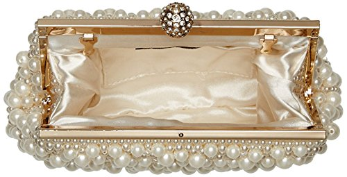 UK_Stone Handmade Elegant Damen Perlen Beaded Clutch Handtasche Party Abendtasche Weiß Beige Aprikose