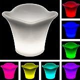 SL247 LED Blumentopf Rund ca. 30cm Durchmesser/Pflanzenkübel LED Party Beleuchtung 16 Verschiedene Farben Einstellbar