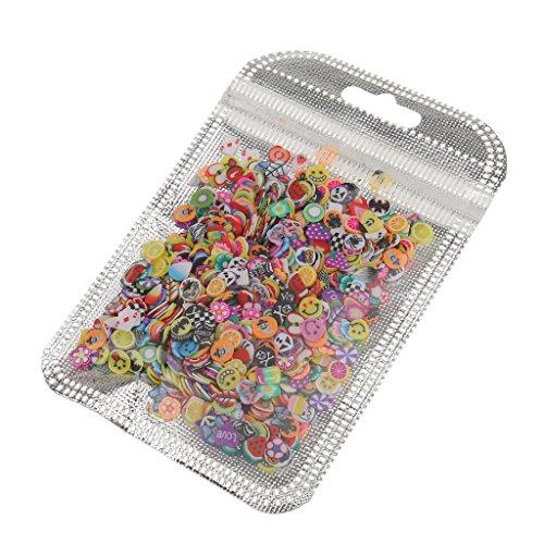 Nail 1000 Acryl Set (Baosity Maniküre Nagel Aufkleber Nail Stickers Nail Art Tip DIY Dekoration Set. Menge: 1000 Stück - Frucht)
