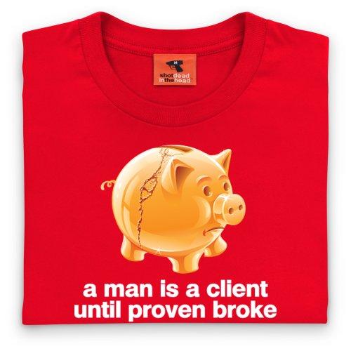 Square Mile Client T-Shirt, Herren Rot