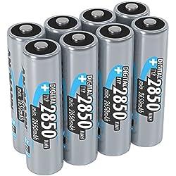 ANSMANN piles rechargeables AA, 1,2V / Type 2850mAh, NiMH / Accumulateur à charge rapide à forte capacité sans effet mémoire - idéal pour les appareils photos, les flashs & les télécommandes, 8 unités