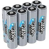 ANSMANN aufladbare Akku Batterie AA Mignon 1,2V / Digital 2850mAh NiMH Akkus/Akku Batterien mit hoher Kapazität ohne Memory-Effekt/Ideal für Kamera, Blitzgeräte, XBOX uvm. 8 Stück