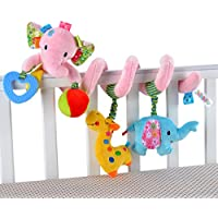 Happy Cherry Espiral de Actividades Sonajero Musical con Sonidos Música Colgante Multicolor Elefante para Bebés Recién Nacidos Niños Carrito Cochecito Cuna