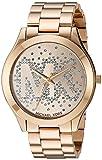 Michael Kors Damen Analog Quarz Uhr mit Edelstahl Armband MK3590