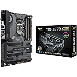 ASUS TUF Z270 MARK1 Scheda Madre, Socket 1151 ATX, Thermal Armor, Dual M.2, Dual LAN, USB 3.1 Type-C