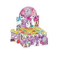 Henbrandt Unicorn Bubble Pots Girls Bubbles Party Bag Loot Bag Garden Game Stocking Fillers Toy (36 Pots)