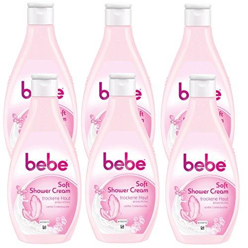 bebe Soft Shower Cream - Cremedusche für normale bis empfindliche Haut - Cremiger Schaum und sanfter Duft