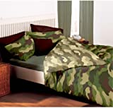 army camouflage reversible double duvet and pillowcase set