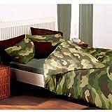 Camouflage Doppel Bettbezug und Kissenbezug Set