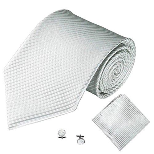 Krawatten Taschentuch Manschettenknopf 3PCS SOMESUN Klassische Jacquard Mann Party Krawatte (5cm Breit, #4)