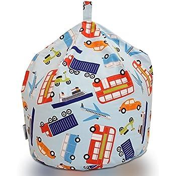 Textile Warehouse Large Traffic Cars Transport Blue Childrens Boys Kids Cotton Beanbag Bean Bag Chair