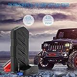 FEN&G Booster Batterie, démarreur de Voiture 800A 15000mAh de Batterie Voiture Moto (6.0 L de Essence 4.0 L Diesel) Robuste Jump Starter avec USB et Lampe de Poche LED,Eustandard
