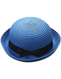 Madre Y Yo Bebé Bowknot Niños Sombrero Transpirable Sombrero De Paja  Sombrero De Niños Sombrero De da761a91c28