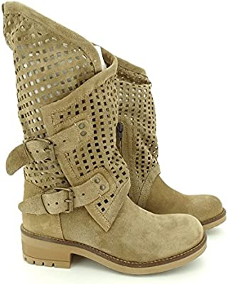 COOLWAY - Bota mujer motera ante taupe ALIDA TR