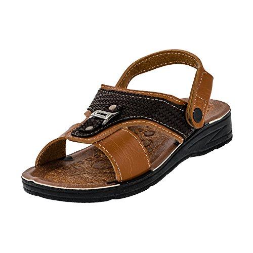 Malibu Kinder Jungen Schuhe Sandalen Hausschuhe Riemen umklappbar M402bn Braun 34