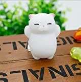 #8: TOYBOY Squishy Cat Toy Mochi Cute Squeeze Stress Reliever for Kids/Adults (White Cat)