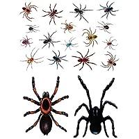 Realistic Spider Window Clings Stickers - Practical Joke April Fools Halloween