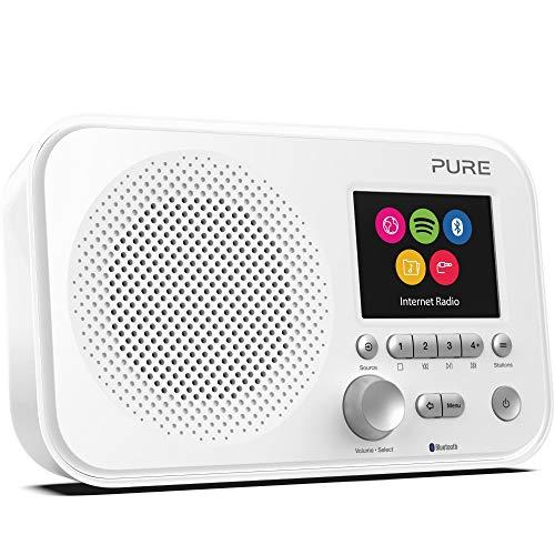 Pure - Elan IR5 (Internet radio portatile con Bluetooth e Spotify Connect), Bianco