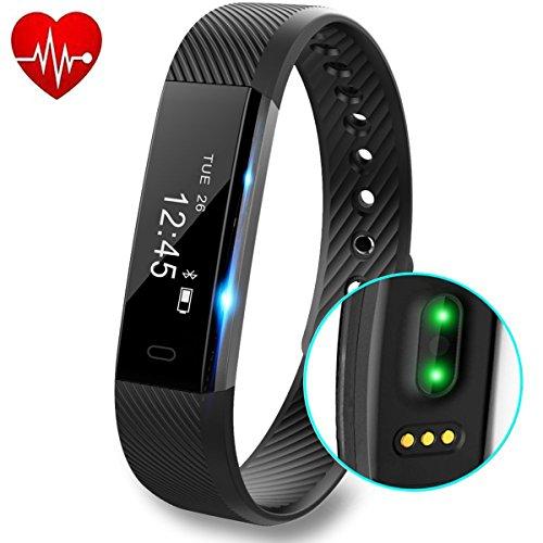 Tracker d'Activité, DeYoun Fitness Tracker Smart Bracelet Connecté avec Cardiofréquencemètre Etanche IP67 Podomètre avec Moniteur de Sommeil / Step Tracker / Calories pour iOS et Android Smartphones (...