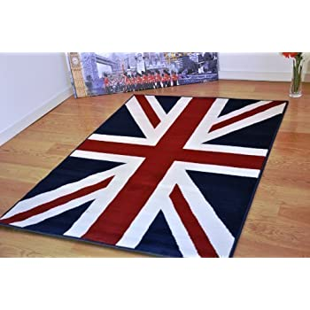 Medium Large FUNKY RETRO MODERN UNION JACK RUG BRITISH FLAG DESIGN RUG SOFT  MATS CARPET 4