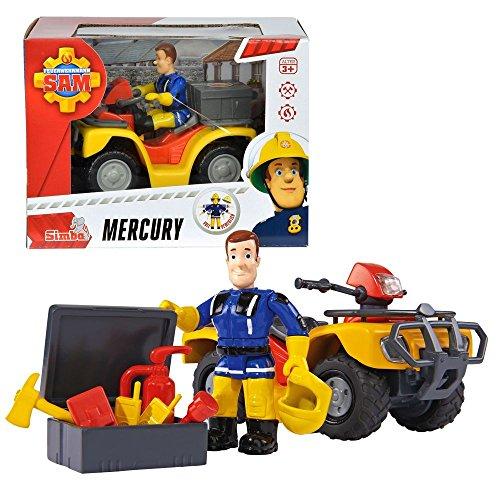 feuerwehrmann sam gelaendewagen Feuerwehrmann Sam - Fahrzeug Geländewagen Quad Mercury & Spielfigur Sam