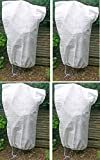 Lot de 4 Sacs de protection pour plantes en hiver - Housse d'hivernage non tissée - Dimensions 110...
