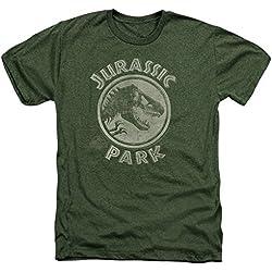 Parque jurásico dinosaurios película Steven Spielberg JP sello adulto Heather camiseta Tee