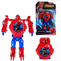 FARP Spiderman Watch red Colour Boys Watch Girls Watch Kids Watch Covert Robot to Watch and Watch to Robot