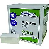 3750 Essuie-mains lisse pliés en W blanc 2x19g/m² - 2 plis - 22x34cm -...
