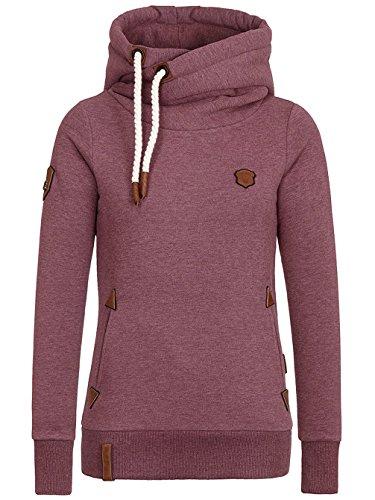 Naketano Damen Sweatshirt Bordeaux Melange