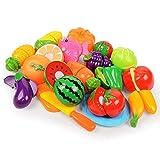 Lecimo Vendita Calda di Plastica da Cucina Frutta Verdura Tagliata Bambini Gioco di Simulazione Giocattolo Educativo di Sicurezza per Bambini Cucina Giocattoli Set, 1#
