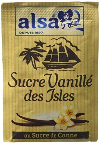 Alsa Sucre Vanillé des Isles 7 Sachets 53 g - Lot de 4