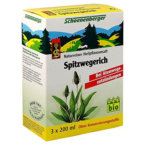 Schoenenberger Spitzwegerich, Naturreiner Heilpflanzensaft - zur Linderung von Husten - freiverkäufliches Arzneimittel, 600 ml