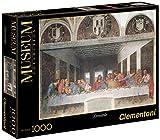 Clementoni - Puzzle de 1000 piezas Grandes Museos, diseño Leonardo: La Última Cena (314478)