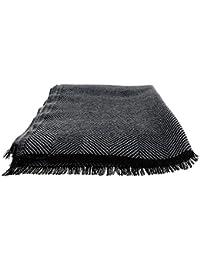 Large Wool Herringbone Scarf