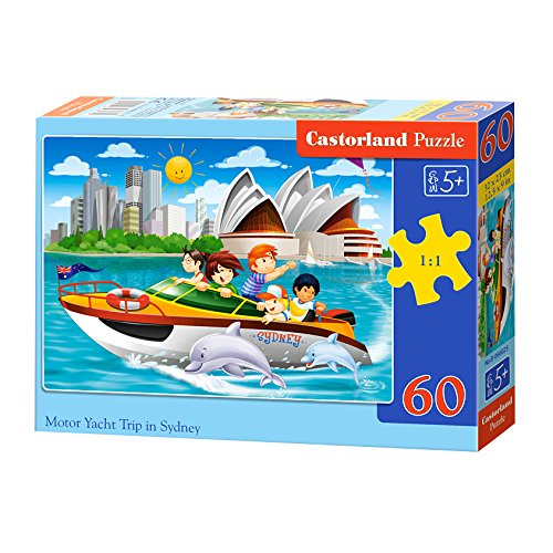 Castorland B-066025 Motor Yacht Trip in Sydney,Puzzle 60 Tei