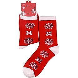 Eizur Donne Novità Stile Natale Calzini Cotone Calze Fantasia Calze Natalizie Ideale Regalo di Babbo Natale Caldo di Inverno - Tipo 14