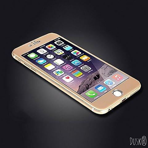 iPhone 7une couverture complète protection d'écran en verre trempé pour Apple iPhone 7par Dusk® 3d courbé en fibre de carbone pour un maximum de protection 9H Dureté Iphone7