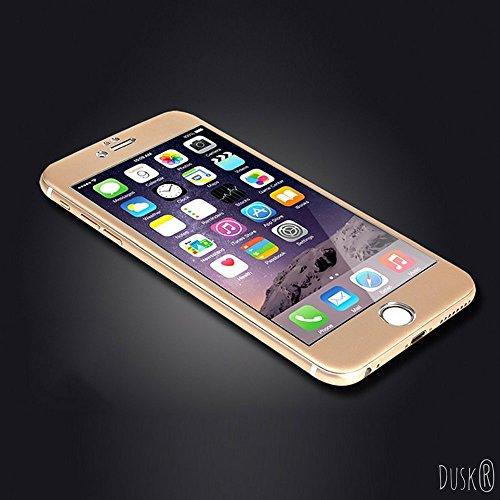 Dusk® cobertura total de cristal templado protector de pantalla para Apple Iphone /7S 3dD, cobertura total de cristal templado curvado, fibra de carbono, para máxima protección, 9H Dureza 9H iPhone 7.