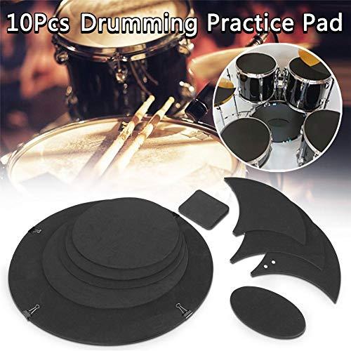 Drum Schalldämpfer Pad, Trommel Übungspad Schlagzeug, Practice Drum Pad Dämpfer aus Schaum Gummi, 5 Drum 3 Cymbal