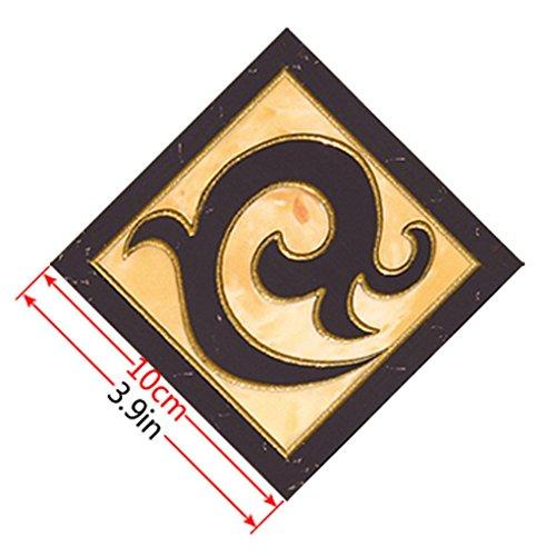 Meisijia 10pcs GoldRetro- Blumen-Fußboden-Fliesenaufkleber Boden Abziehbilder Wohnzimmer Washroom Dekor Wasserdicht (Stick Fliesenboden)