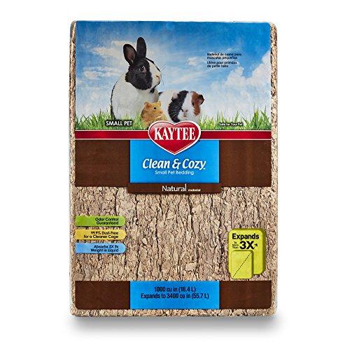 Kaytee 894761 Clean & Cozy Streu für kleine Haustiere / Nager / Hamster, 99.9 % staubfrei, Geruchskontrolle - 49.2 Liter, natürlich