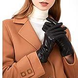 ZQ-Collection Handschuhe Damen Leder Handschuhe echtes Lammleder und mit Kaschmir Wolle gefütterte warme Winter Handschuhe