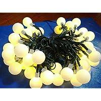 inngree solare delle luci, 23 (50 condotto palla bianca solare impermeabile luci di natale per le parti, giardini all'aperto, a casa, addobbo, decorazioni per l'albero di natale - Gruppo String