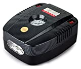 #10: RNG EKO Green - Portable Tyre Inflator for Car/Bike 12V/160PSI Air Compressor with LED-Black (high Power 35L/Min, Low Noise 85 db)