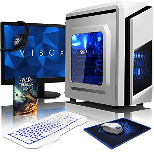 VIBOX Killstreak SA4-281 Komplett-PC Paket Gaming PC - 3,9GHz AMD A4 Dual-Core APU, Desktop Gamer Computer mit Spielgutschein, 22